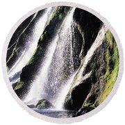Powerscourt Waterfall, Co Wicklow Round Beach Towel