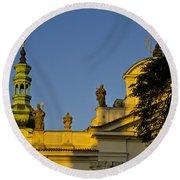 Prague - Strahov Monastery Round Beach Towel