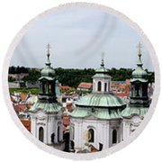 Prague Panorama Round Beach Towel