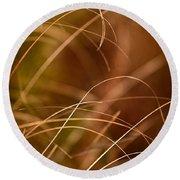 Prairie Grasses Number 4 Round Beach Towel