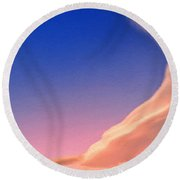 Prairie Sunrise Round Beach Towel
