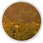 Prairie Wildflowers Round Beach Towel