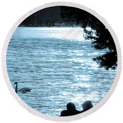 Precious Moments Round Beach Towel by Syed Aqueel