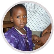 Precious Nigerian Boy Round Beach Towel