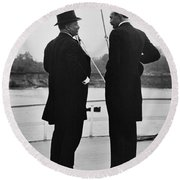 President Roosevelt And Gifford Pinchot Round Beach Towel