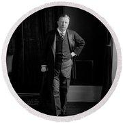 President Theodore Roosevelt - Portrait Round Beach Towel