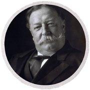 President William Howard Taft Round Beach Towel
