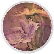 Pretty Bouquet - A04t4b Round Beach Towel