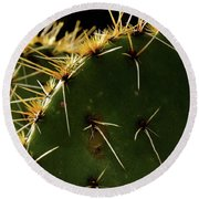 Prickly Pear Dangerous Beauty - Greeting Card Round Beach Towel