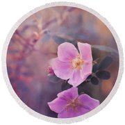 Prickly Rose Round Beach Towel