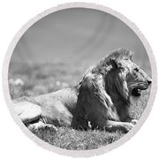 Pride In Black And White Round Beach Towel