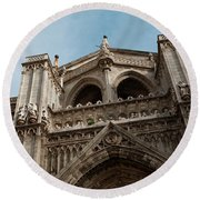 Primate Cathedral  Round Beach Towel
