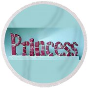 Princess Round Beach Towel by Cynthia Amaral
