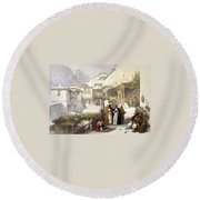 Principal Court Of The Convent Of St. Catherine Round Beach Towel