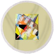 Prismas Round Beach Towel