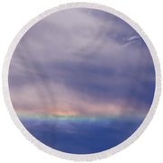 Prismatic Color In The Sky Round Beach Towel