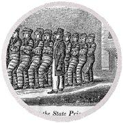 Prisoners, 1842 Round Beach Towel