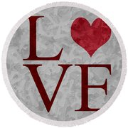 Pristine Love Round Beach Towel