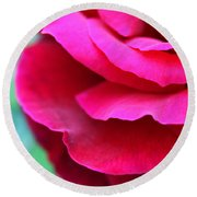 Profile Of A Rose Round Beach Towel