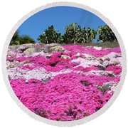 Profusion Of Pink Round Beach Towel