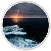 Projection Round Beach Towel