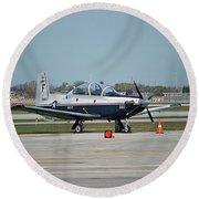 Propeller Plane Chicago Airplanes 10 Round Beach Towel