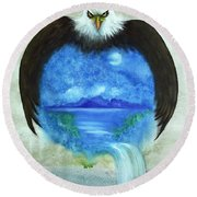 Protect Our Mother Round Beach Towel