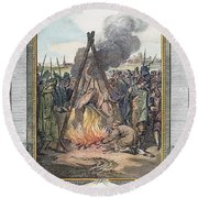 Protestant Martyrs, 1563 Round Beach Towel