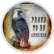 Proud Round Beach Towel