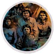 Proud Apache Scouts Round Beach Towel