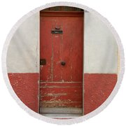 Provence Door 13 Round Beach Towel