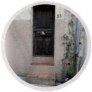 Provence Door Number 33 Round Beach Towel