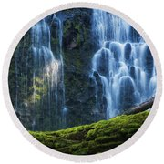 Proxy Falls Round Beach Towel