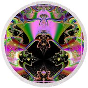 Psychedelic Blackhole Birthday Party Fractal 120 Round Beach Towel