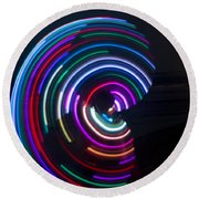 Psychedelic Hula Hoop Round Beach Towel by Ilan Rosen