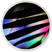 Psychedelic Palm Abstract Round Beach Towel