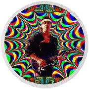 Psychedelicalifornia Round Beach Towel