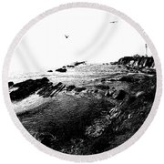 Pt Arena Lighthouse With Effect Round Beach Towel