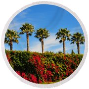 Pt. Dume Palms Round Beach Towel