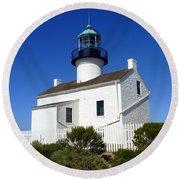 Pt. Loma Lighthouse Round Beach Towel
