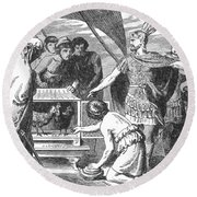 Publius Claudius Pulcher And The Sacred Round Beach Towel by Photo Researchers