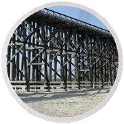 Pudding Creek Bridge Round Beach Towel