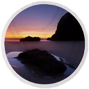 Puddles And Stones Round Beach Towel