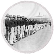 Puerto Ricans Serving In The American Colonial Army - C 1899 Round Beach Towel