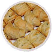 Puff Pastry Party Tray Round Beach Towel
