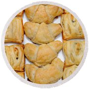 Puff Pastry Party Tray Pano Round Beach Towel