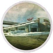 Pullman's Restaurant Round Beach Towel by Joel Witmeyer