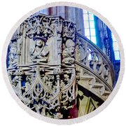Pulpit St Stephens - Vienna Round Beach Towel