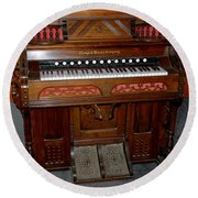 Pump Organ Round Beach Towel
