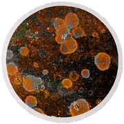 Pumpkin Abstract Square Round Beach Towel